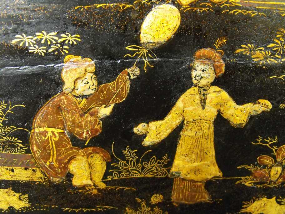 Detail of restored Japanning