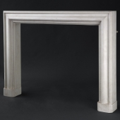 Solid timber classical fire surround with faux stone effect