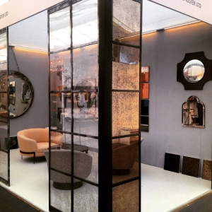 Crittal panels with antiqued glass at Decorex 2015