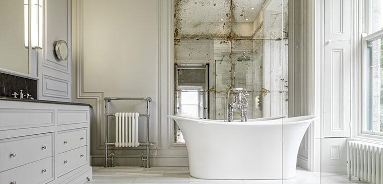 Bronze Panelled Bathroom Mirror